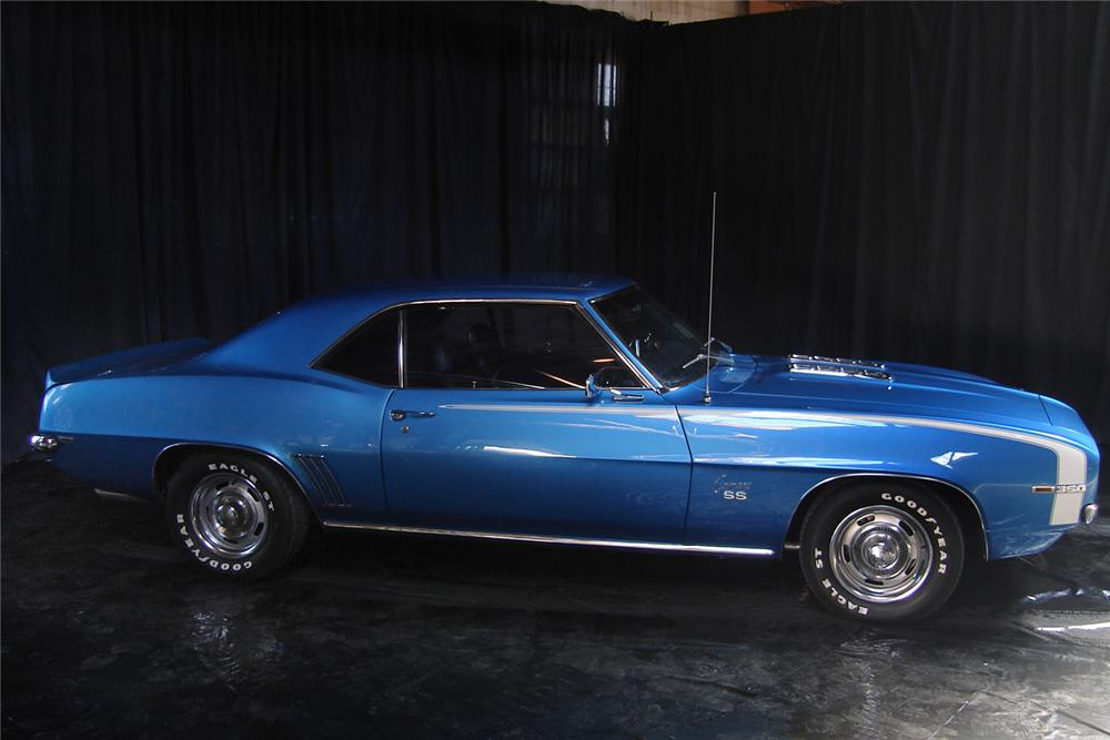 1969 CHEVROLET CAMARO SS COUPE - Side Profile - 44009