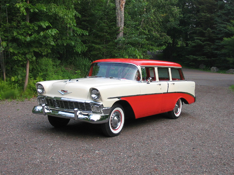 1956 CHEVROLET 210 BEAUVILLE WAGON - Front 3/4 - 44011