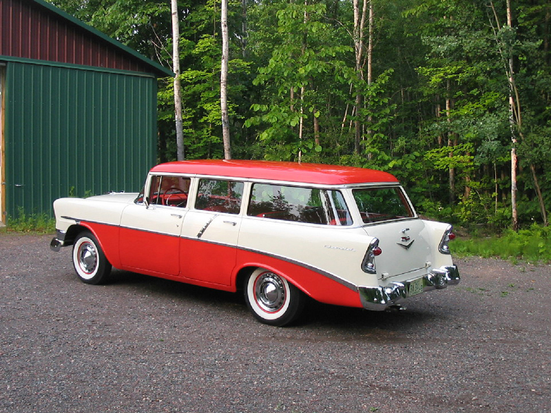 1956 CHEVROLET 210 BEAUVILLE WAGON - Rear 3/4 - 44011