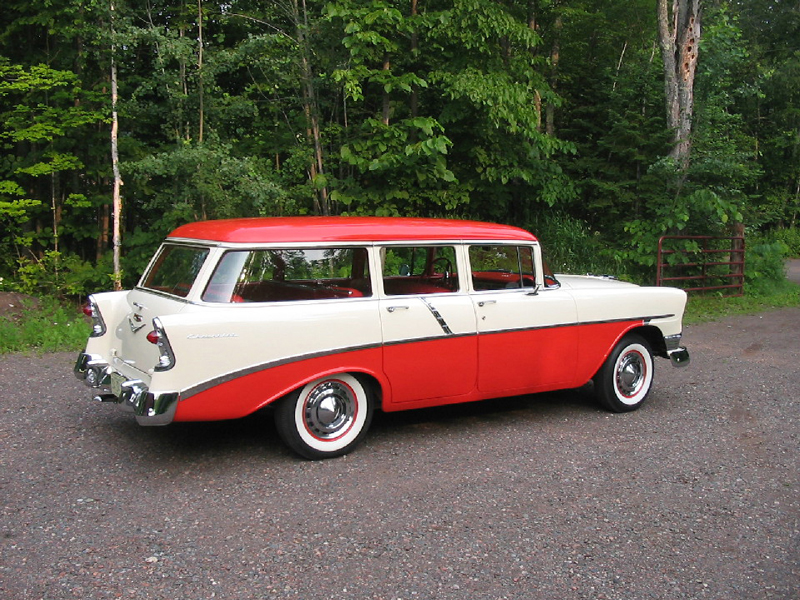 1956 CHEVROLET 210 BEAUVILLE WAGON - Side Profile - 44011