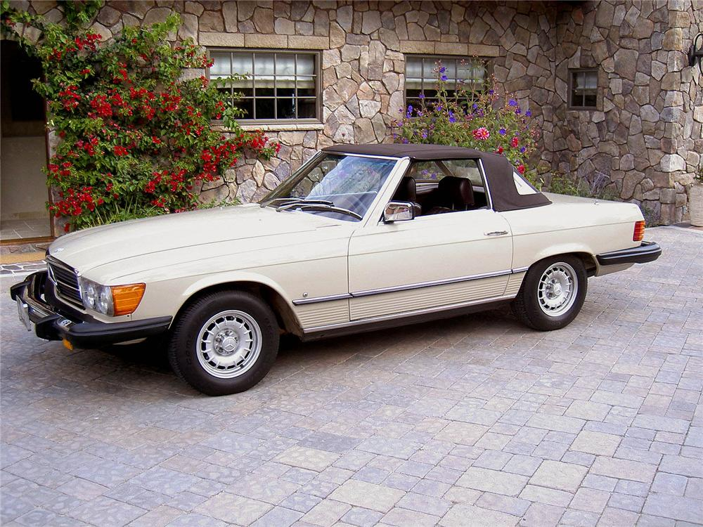 1980 mercedes benz 450sl convertible 44020