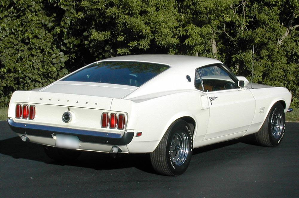 1969 FORD MUSTANG BOSS 429 FASTBACK - Rear 3/4 - 44034