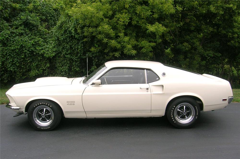 1969 FORD MUSTANG BOSS 429 FASTBACK - Side Profile - 44034