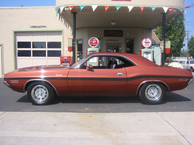 1970 DODGE CHALLENGER R/T 2 DOOR HARDTOP - Side Profile - 44037