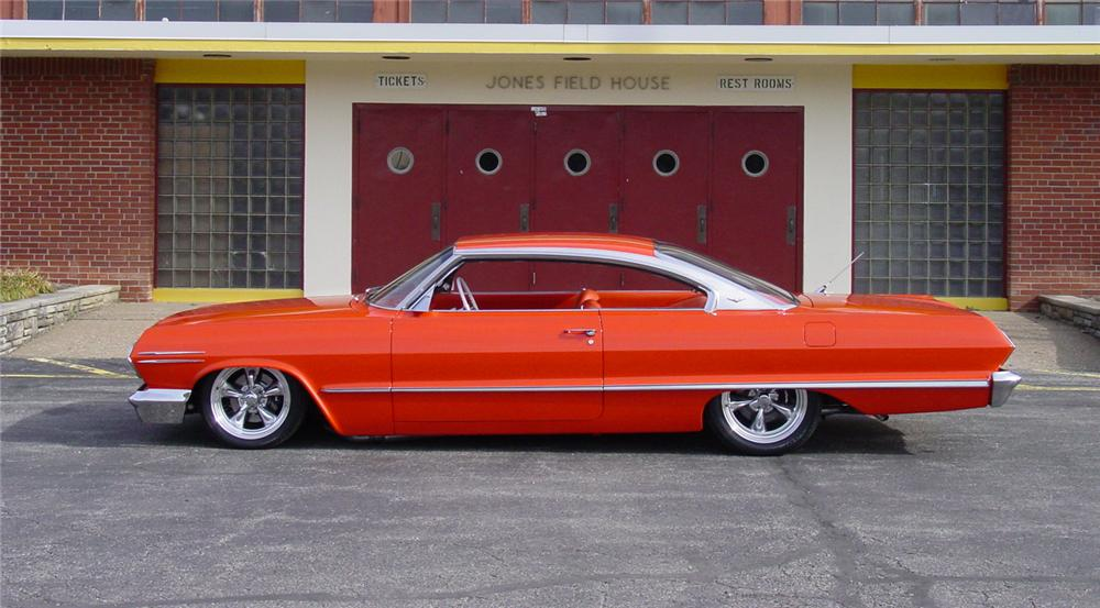 1963 CHEVROLET IMPALA CUSTOM 2 DOOR HARDTOP - Side Profile - 44041