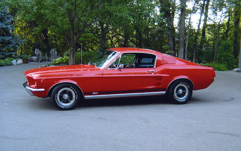 1967 FORD MUSTANG GTA FASTBACK - Side Profile - 44045
