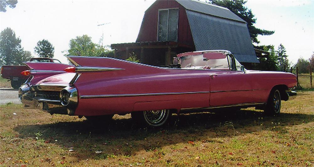 1959 CADILLAC SERIES 62 2 DOOR CONVERTIBLE - Rear 3/4 - 44050