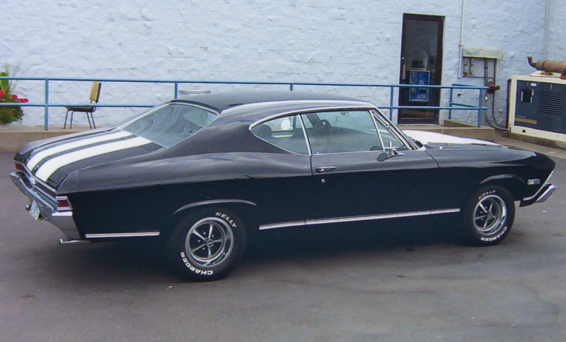 1968 CHEVROLET CHEVELLE SS 396 2 DOOR HARDTOP - Side Profile - 44069