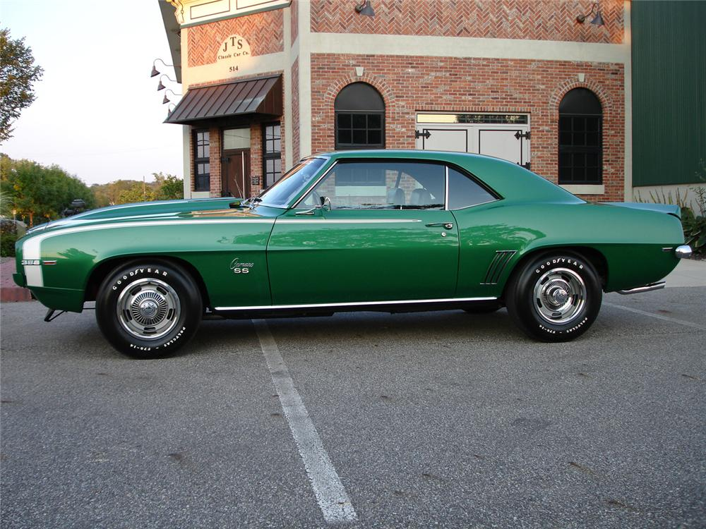 1969 CHEVROLET CAMARO SS 2 DOOR COUPE - Side Profile - 44074