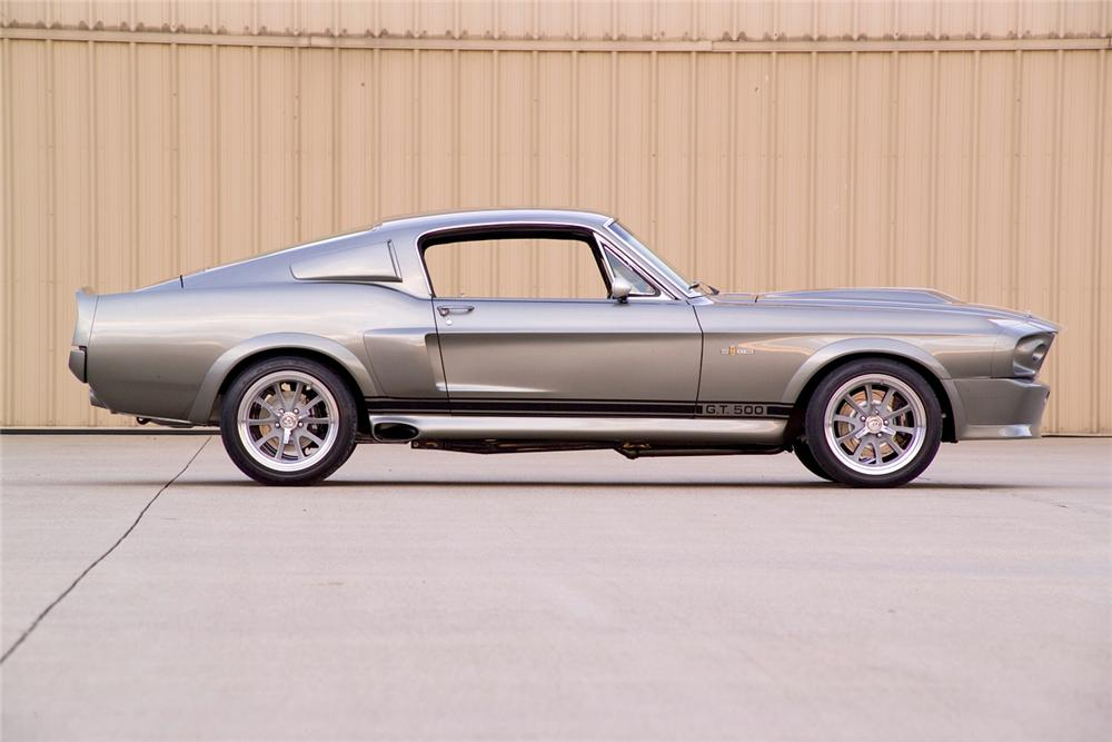 1967 FORD MUSTANG FASTBACK RE-CREATION - Side Profile - 44087
