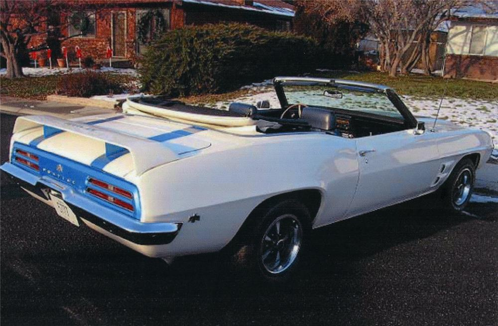 1969 PONTIAC TRANS AM CONVERTIBLE RE-CREATION - Rear 3/4 - 44094