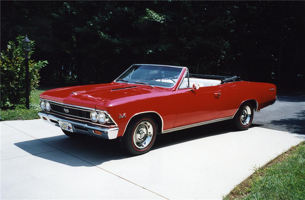 1966 CHEVROLET CHEVELLE CONVERTIBLE 396 RE-CREATION - Front 3/4 - 44097
