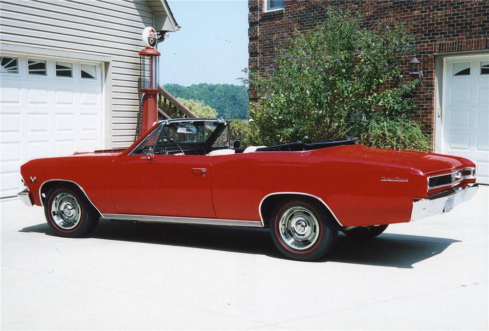 1966 CHEVROLET CHEVELLE CONVERTIBLE 396 RE-CREATION - Rear 3/4 - 44097