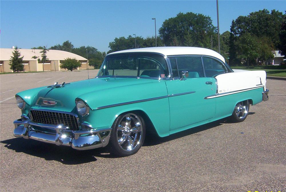 1955 chevrolet bel air custom 2 door hardtop 44118 for 1955 chevy bel air 4 door