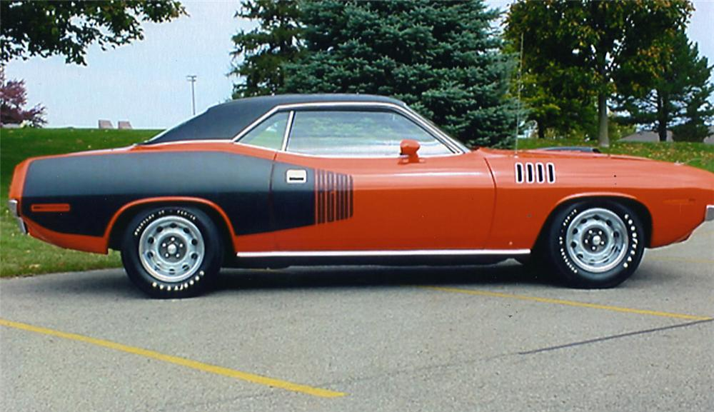 1971 PLYMOUTH HEMI CUDA 2 DOOR HARDTOP - Side Profile - 44126
