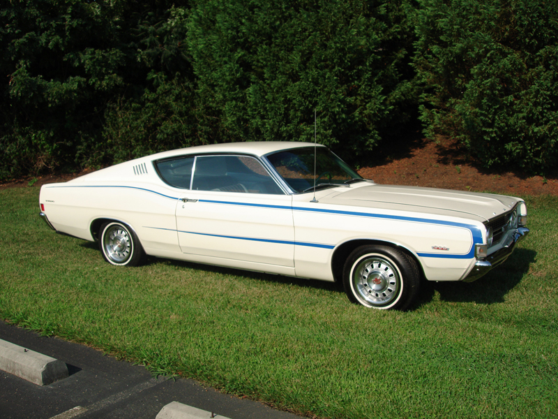 1968 FORD TORINO GT FASTBACK - Side Profile - 44130