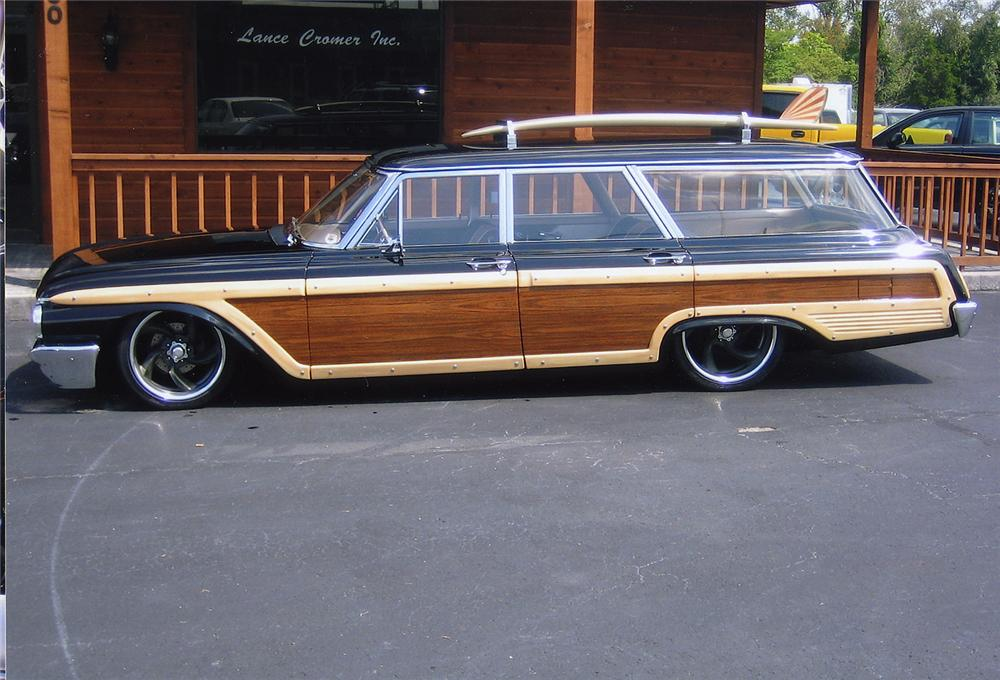 1962 FORD COUNTRY SQUIRE CUSTOM WAGON - Side Profile - 44141