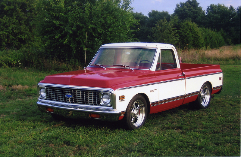 1971 CHEVROLET CUSTOM PICKUP - Front 3/4 - 44143