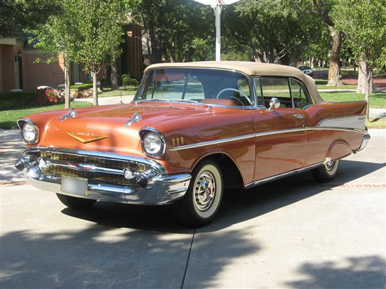 1957 CHEVROLET BEL AIR CONVERTIBLE - Front 3/4 - 44149
