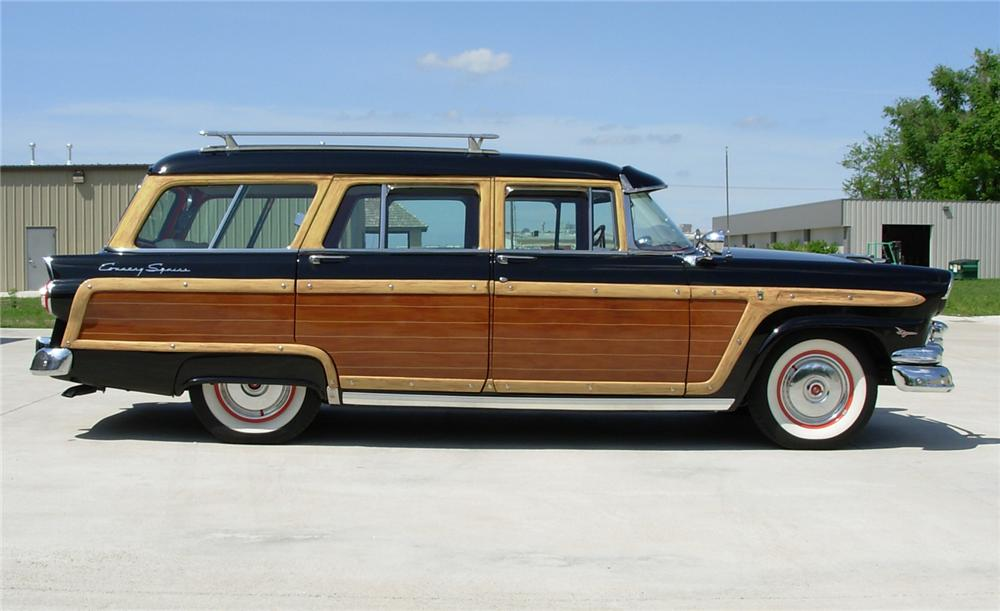 1956 FORD COUNTRY SQUIRE WAGON - Side Profile - 44163