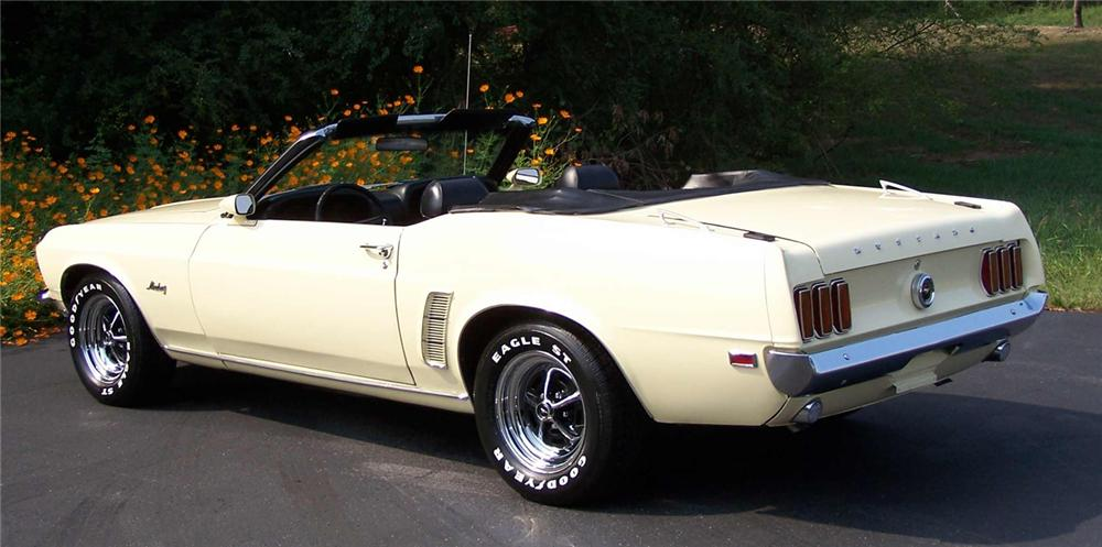 1969 FORD MUSTANG CONVERTIBLE RUMBLE SEAT - 44179