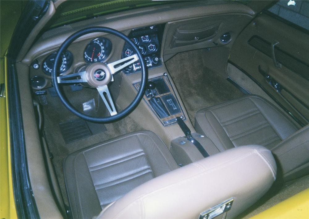 1972 CHEVROLET CORVETTE LT1 CONVERTIBLE - Interior - 44195