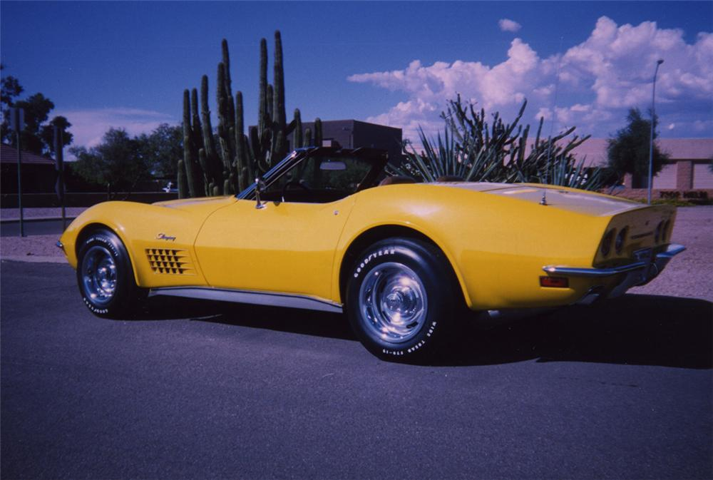 1972 CHEVROLET CORVETTE LT1 CONVERTIBLE - Rear 3/4 - 44195