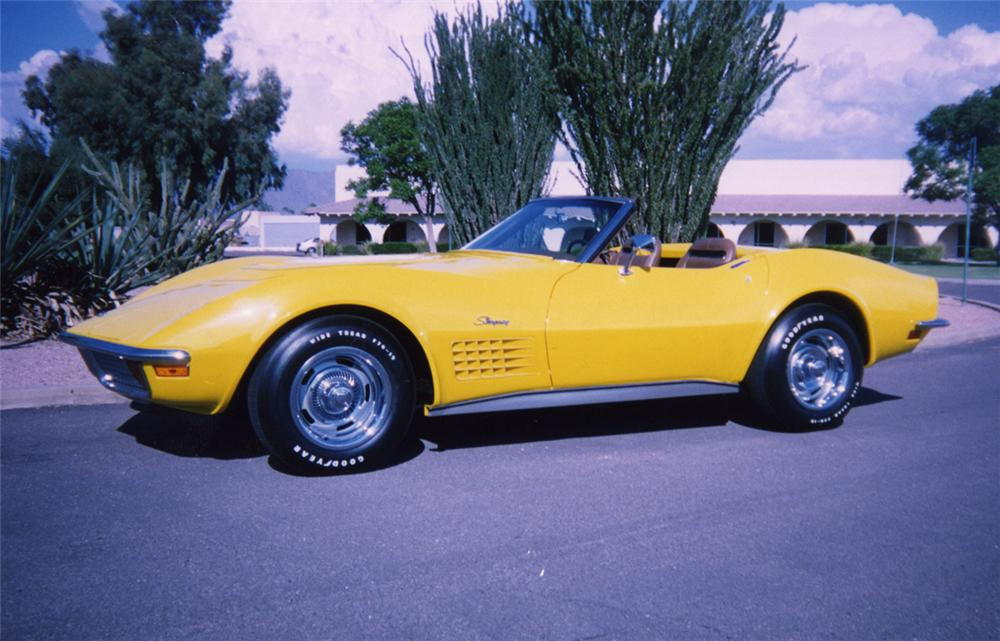 1972 CHEVROLET CORVETTE LT1 CONVERTIBLE - Side Profile - 44195