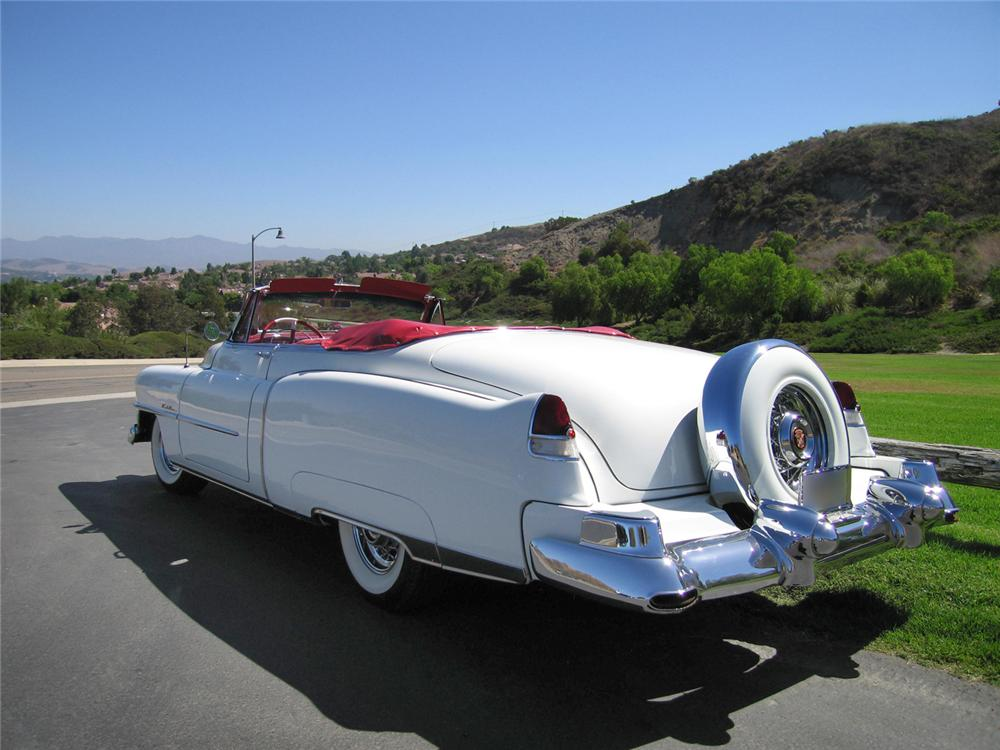 1953 CADILLAC SERIES 62 CONVERTIBLE - Rear 3/4 - 44215