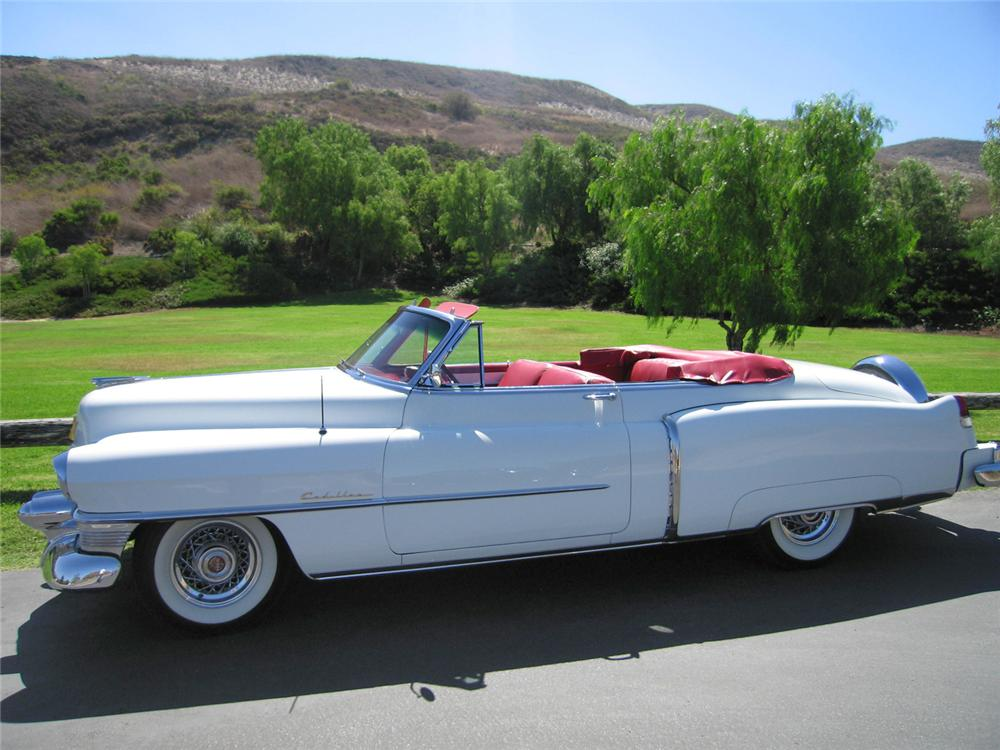 1953 CADILLAC SERIES 62 CONVERTIBLE - Side Profile - 44215