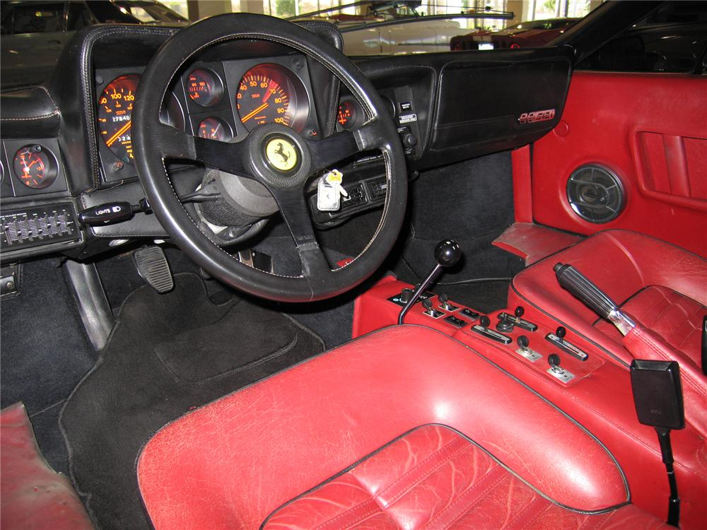 1984 FERRARI 512 BBI COUPE - Interior - 44216