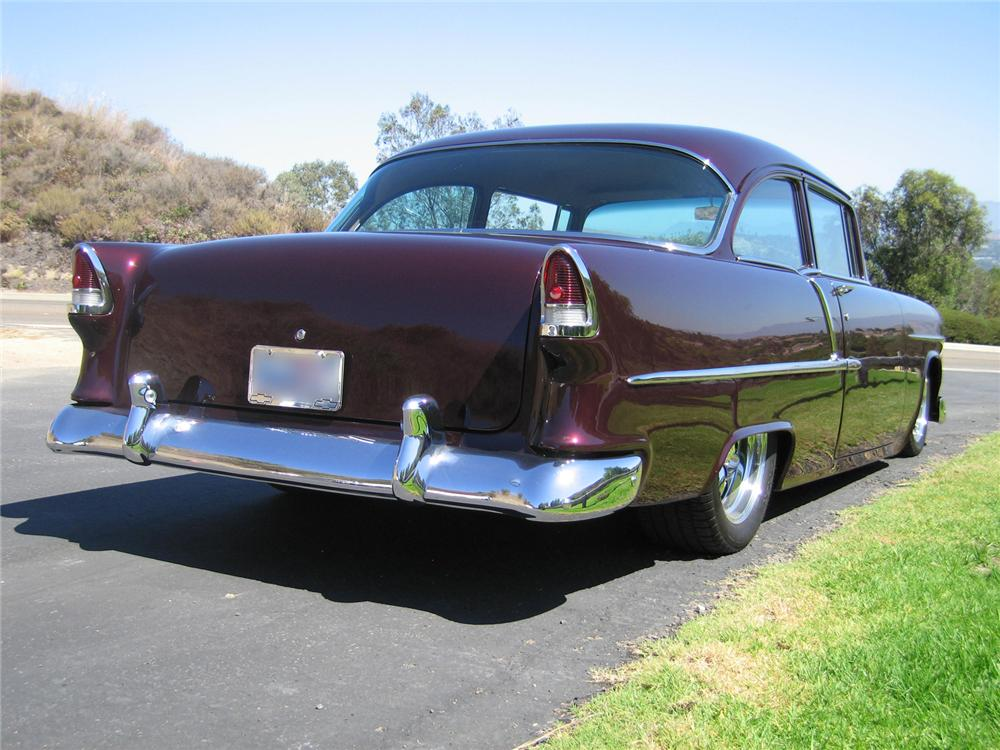 1955 CHEVROLET 210 CUSTOM 2 DOOR HARDTOP - Rear 3/4 - 44218