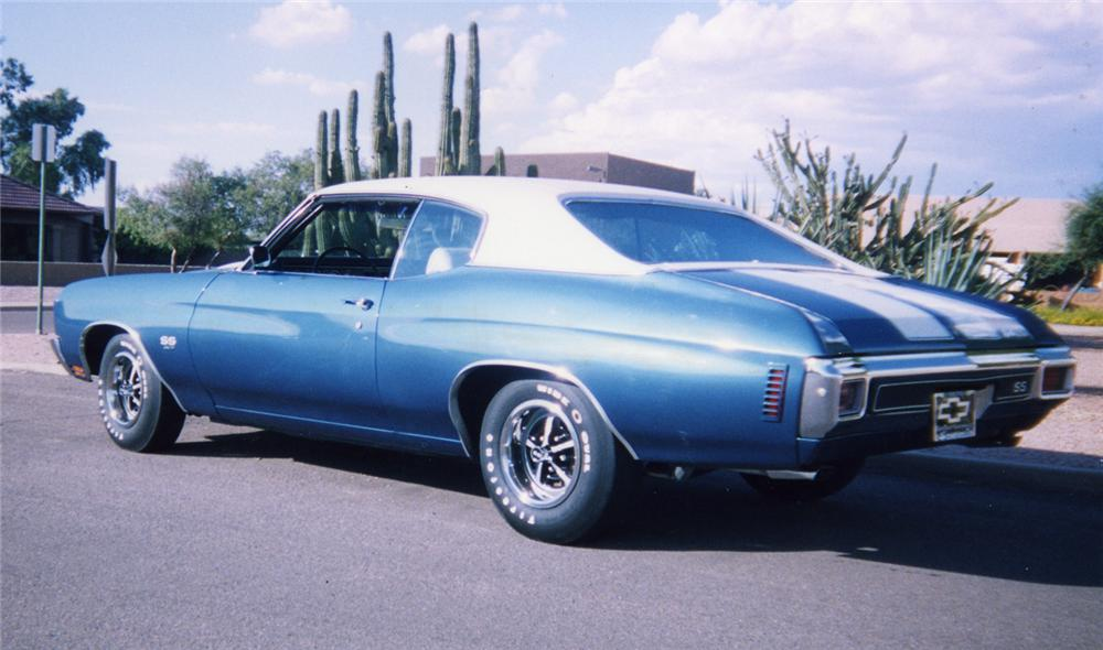 1970 CHEVROLET CHEVELLE SS 396 COUPE - Rear 3/4 - 44223