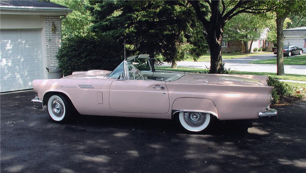 1957 FORD THUNDERBIRD CONVERTIBLE - Side Profile - 44227