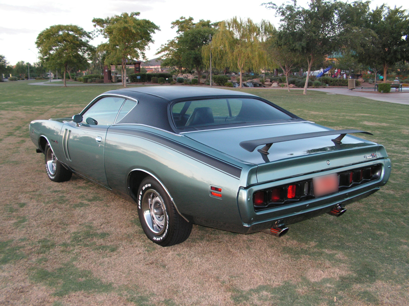 1971 DODGE CHARGER R/T 2 DOOR HARDTOP - Rear 3/4 - 44230