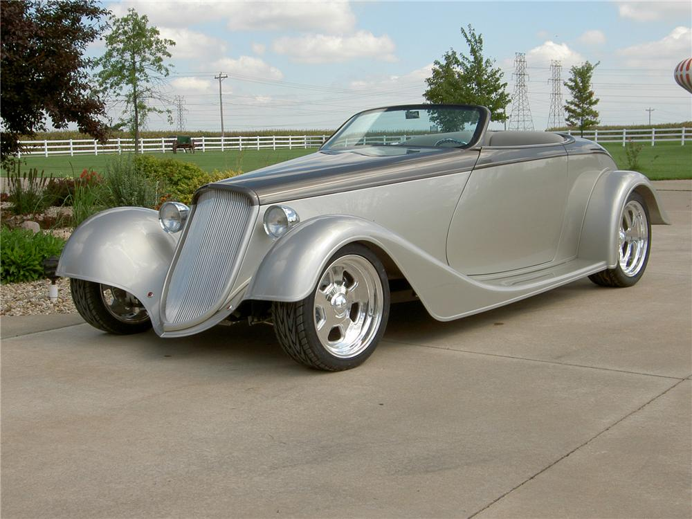 1933 FORD CUSTOM ROADSTER - Front 3/4 - 44232