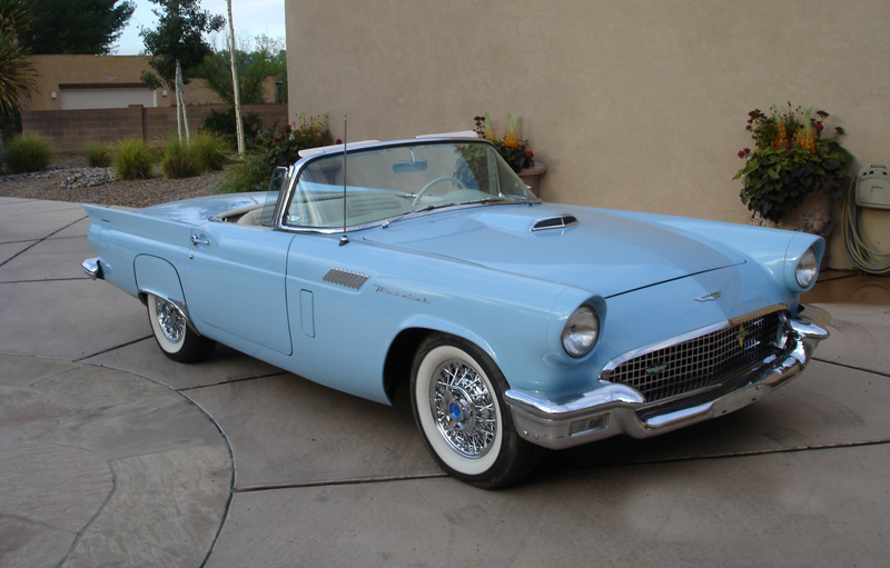 1957 FORD THUNDERBIRD CONVERTIBLE - Front 3/4 - 44234