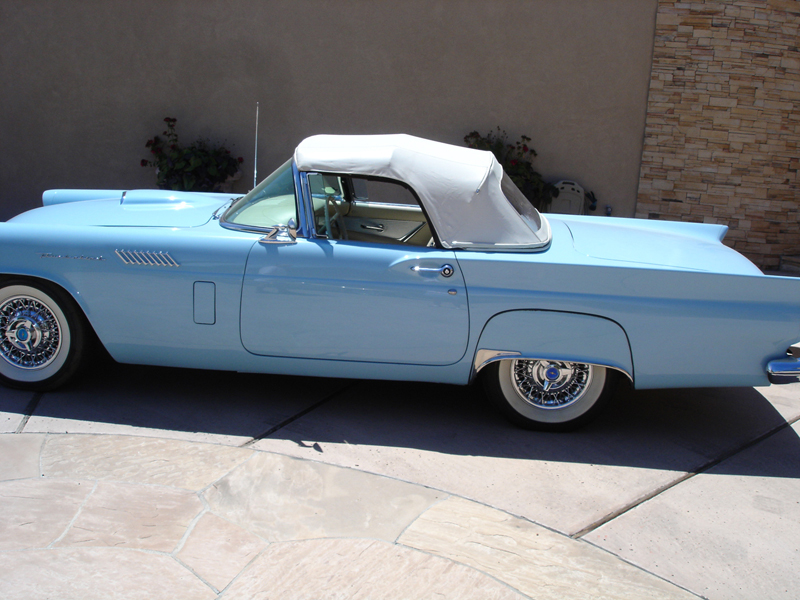 1957 FORD THUNDERBIRD CONVERTIBLE - Side Profile - 44234