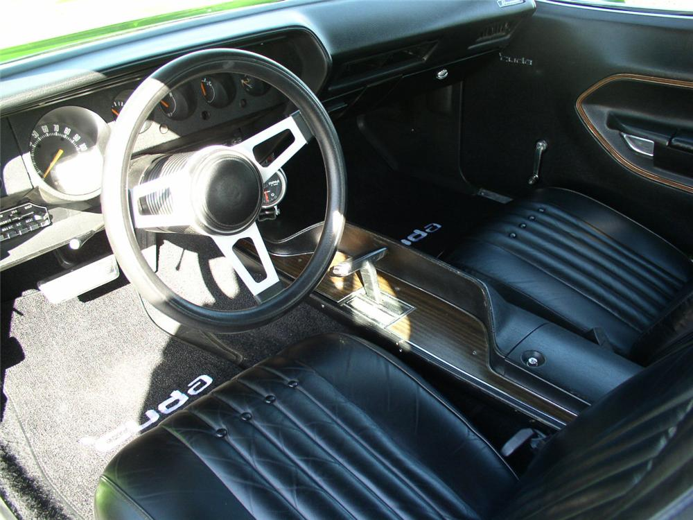 1971 PLYMOUTH CUDA 2 DOOR HARDTOP - Interior - 44235