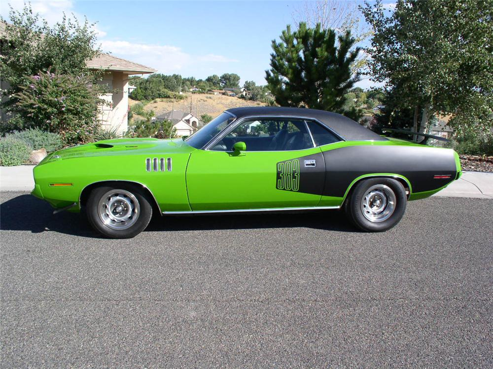 1971 PLYMOUTH CUDA 2 DOOR HARDTOP - Side Profile - 44235