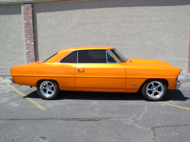 1967 CHEVROLET NOVA CUSTOM 2 DOOR HARDTOP - Side Profile - 44242