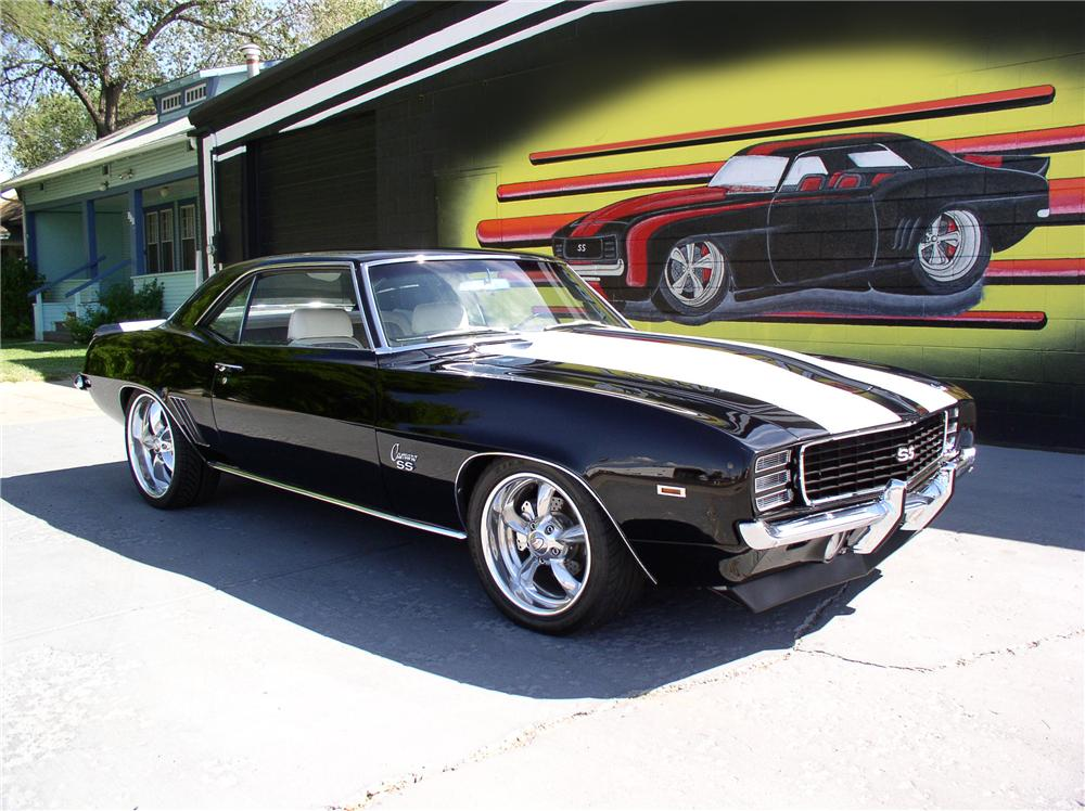 1969 chevrolet camaro rs ss custom coupe 44243. Black Bedroom Furniture Sets. Home Design Ideas