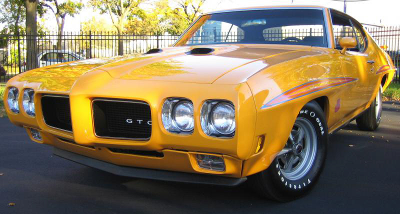 1970 PONTIAC GTO JUDGE 2 DOOR HARDTOP - Front 3/4 - 44259