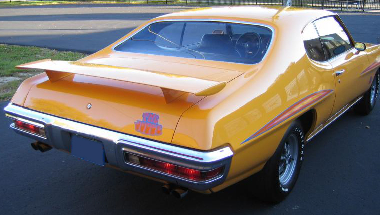 1970 PONTIAC GTO JUDGE 2 DOOR HARDTOP - Rear 3/4 - 44259