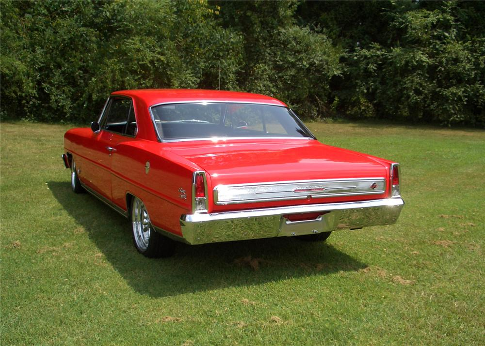 1966 CHEVROLET NOVA SS CUSTOM 2 DOOR HARDTOP - Rear 3/4 - 44277