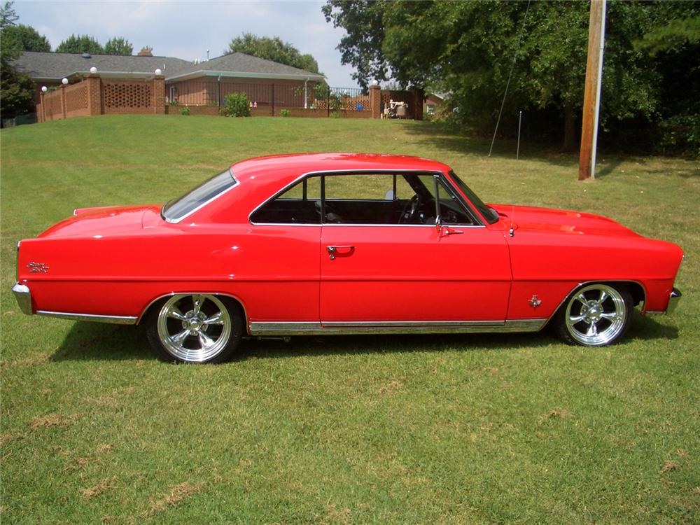 1966 CHEVROLET NOVA SS CUSTOM 2 DOOR HARDTOP - Side Profile - 44277