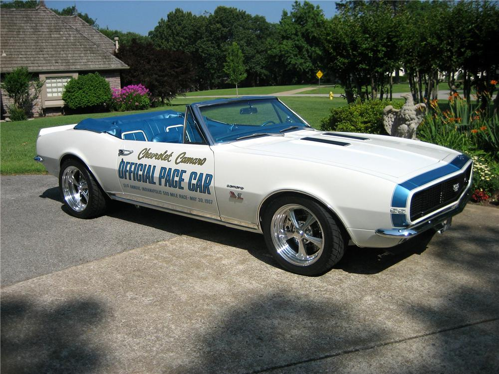 1967 CHEVROLET CAMARO INDY PACE CAR CUSTOM CONVERTIBLE - Front 3/4 - 44286