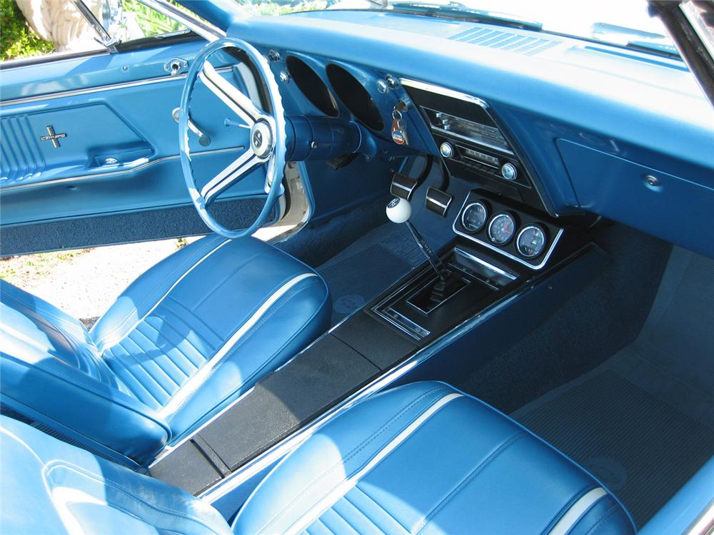 1967 CHEVROLET CAMARO INDY PACE CAR CUSTOM CONVERTIBLE - Interior - 44286