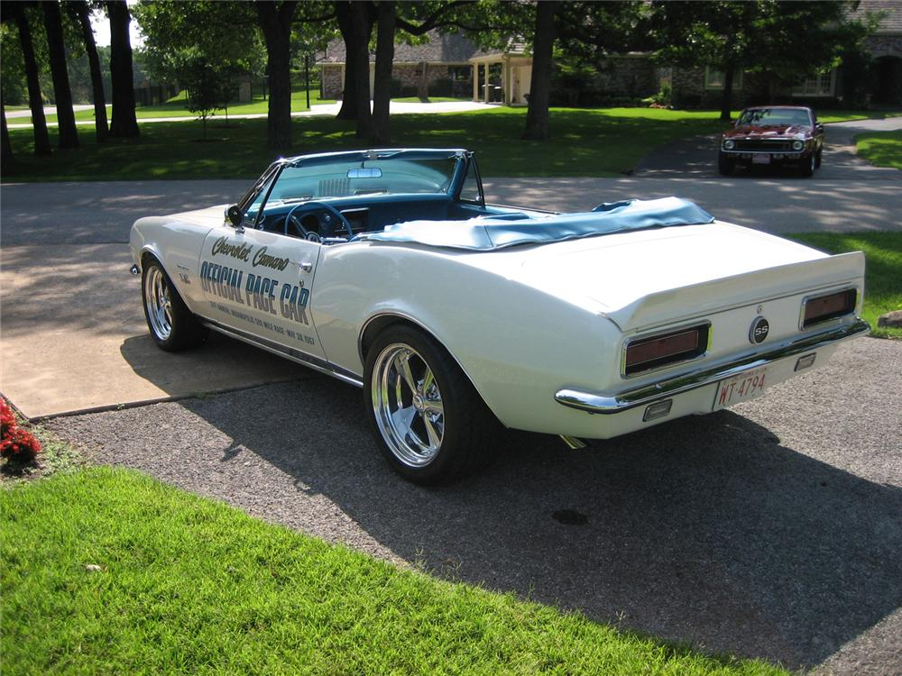 1967 CHEVROLET CAMARO INDY PACE CAR CUSTOM CONVERTIBLE - Rear 3/4 - 44286