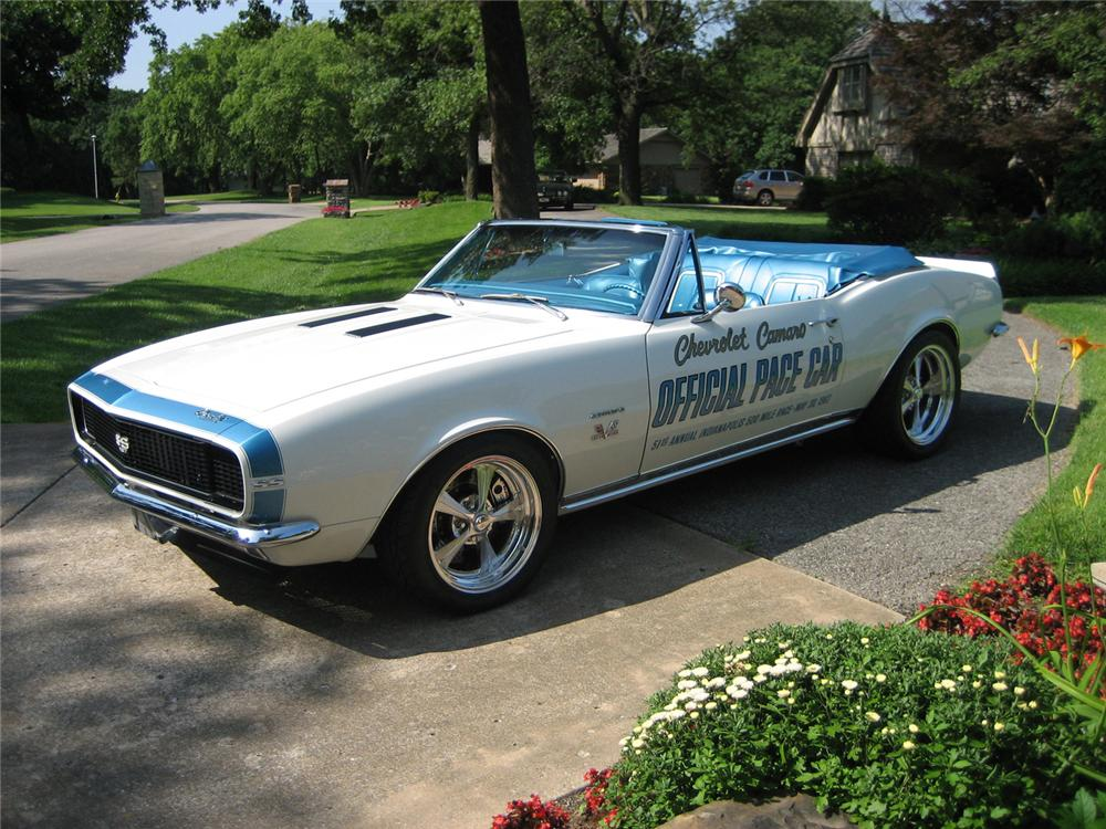 1967 CHEVROLET CAMARO INDY PACE CAR CUSTOM CONVERTIBLE - Side Profile - 44286